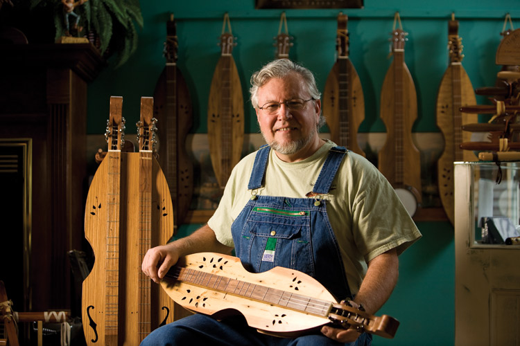 Dulcimer Player Makes Music Instruments Tennessee Home