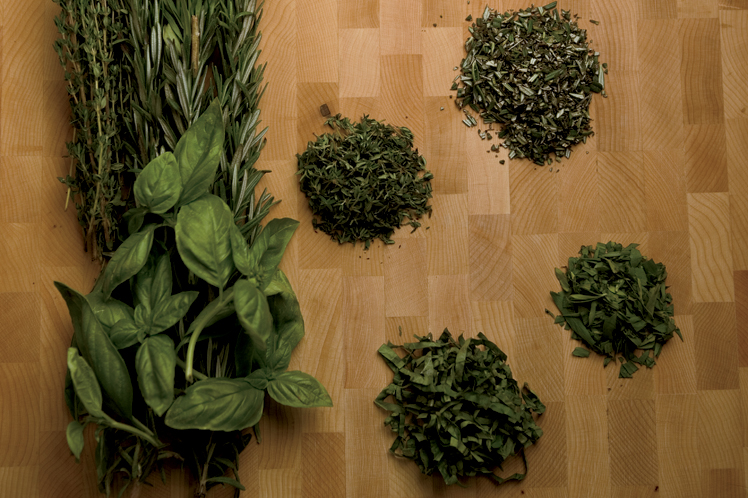 Herb ingredients for recipes