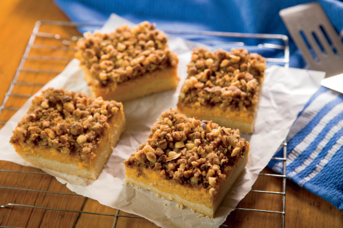 Pumpkin Hazelnut Bars Recipe