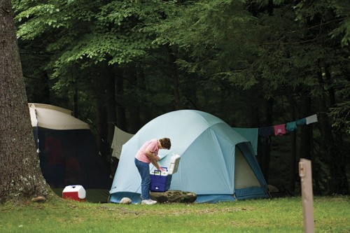 Camping in Tennessee in the summer