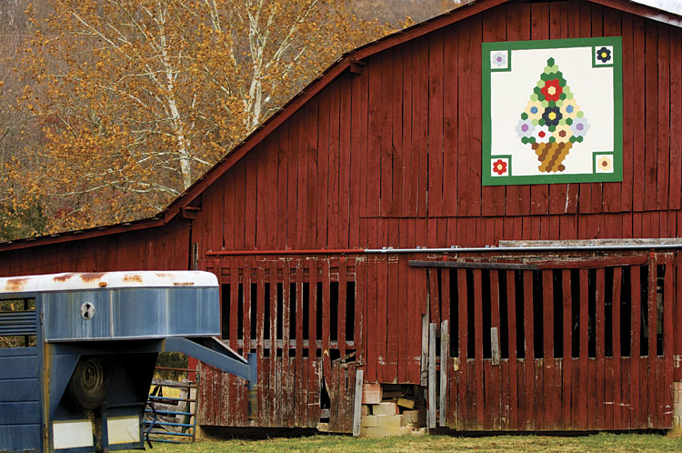Barn on the Upper Cumberland Quilt Trail in Algood, TN