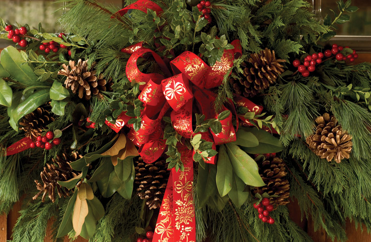Christmas, wreath, decorations