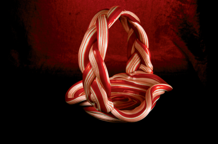 Candy Cane Baskets