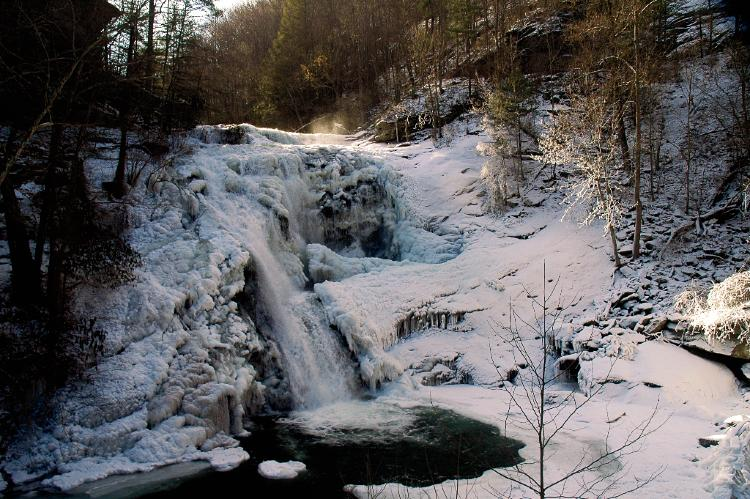 Bald River Falls in Tellico - Frozen in Winter 2009