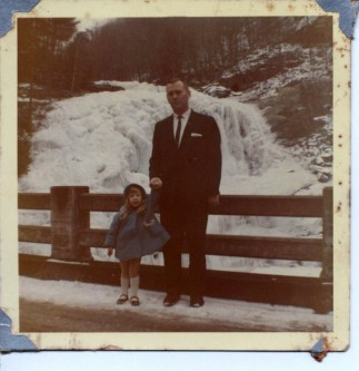 Frozen Bald River Falls Photo From 1963 - Tennessee Home