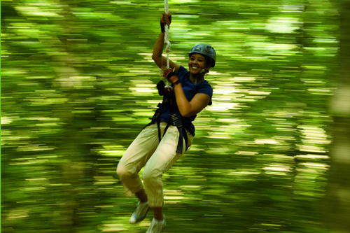 Ziplining in Tennessee