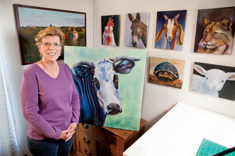 Agricultural Artist Sarah Weber in Corryton, Tennessee
