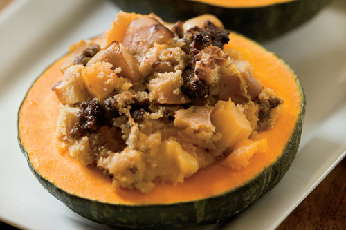 Squash and Apple Bake with Sausage