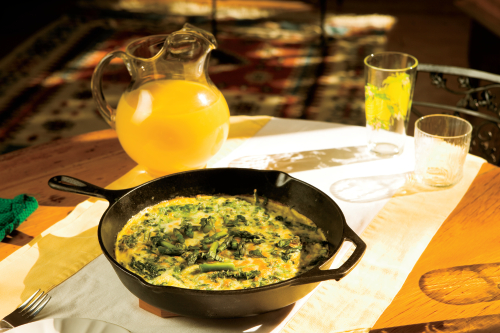 Asparagus, Spinach and White Cheddar Frittata
