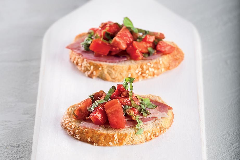 Shaved Country Ham Bruschetta