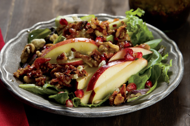 Apple Trio Salad with Bacon Vinaigrette