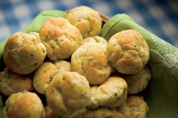 Rosemary Goat Cheese Muffins