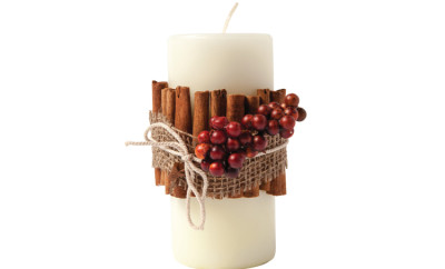 DIY Cinnamon Stick Candle