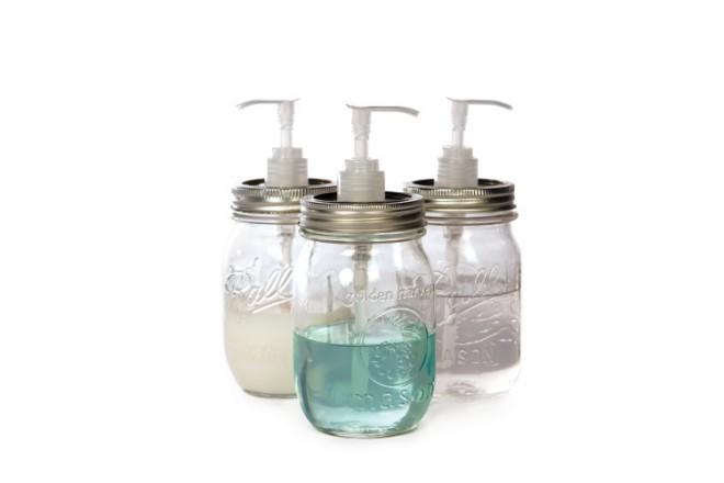 Mason Jar Soap Dispensers