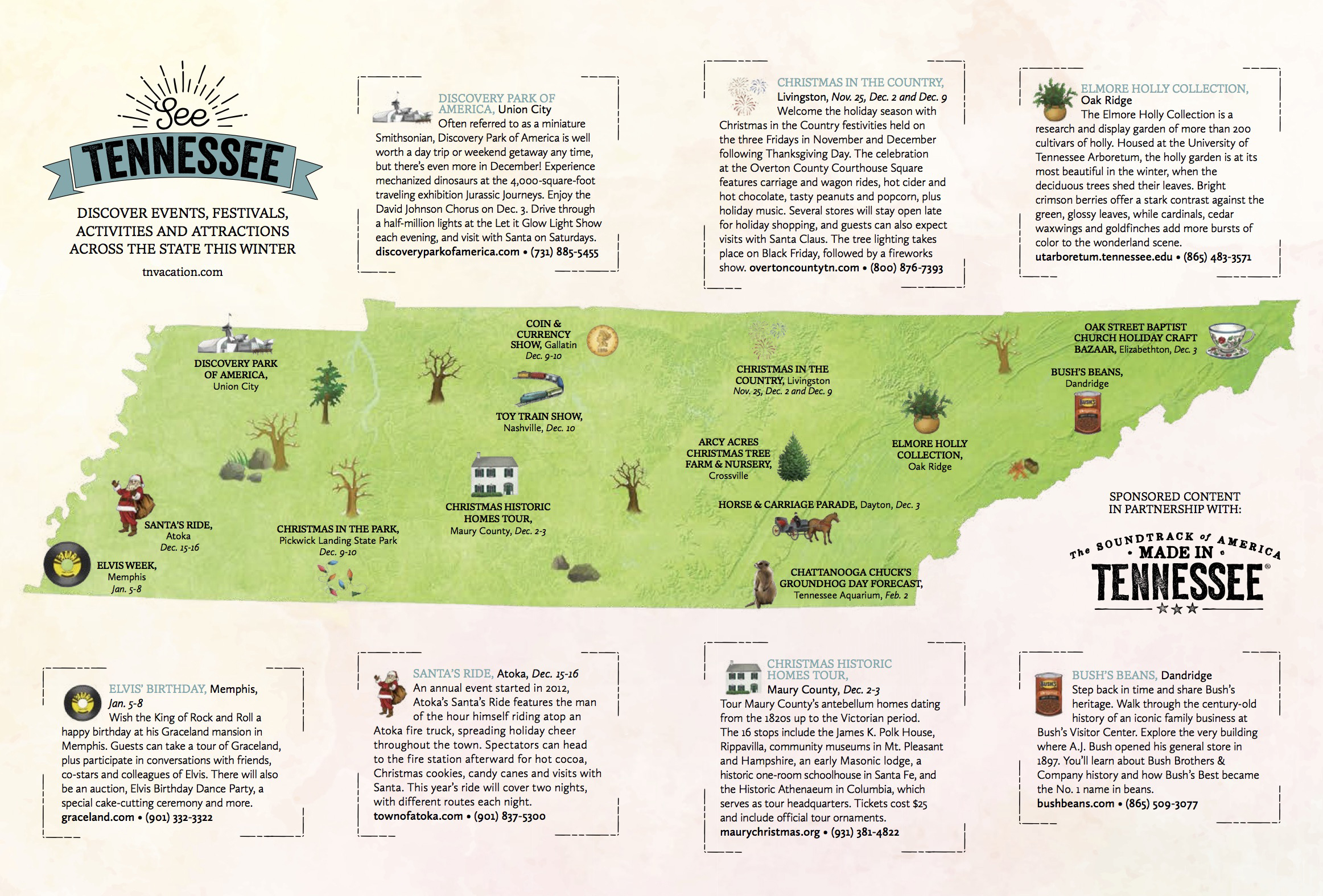 State Parks Tennessee Map.See Tennessee Winter Tourism Map
