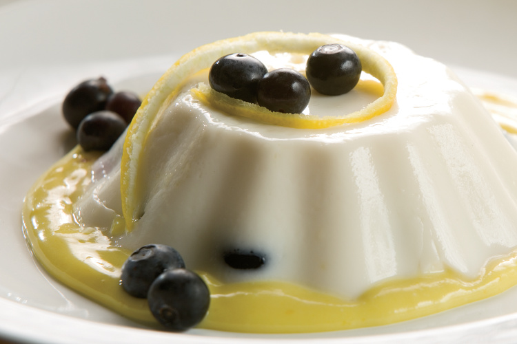 Blueberry Panna Cotta