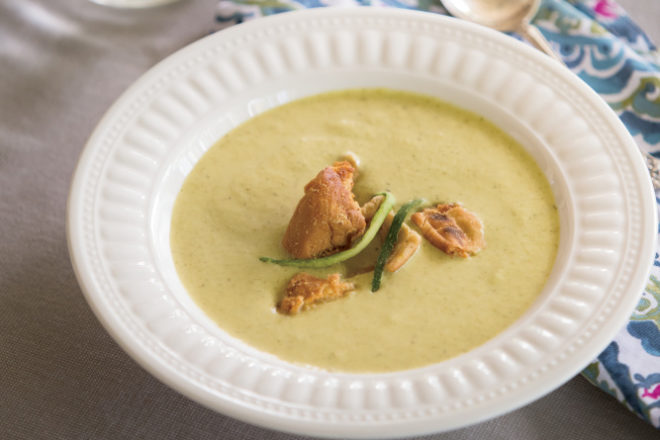 Chilled Zucchini and Lime Soup