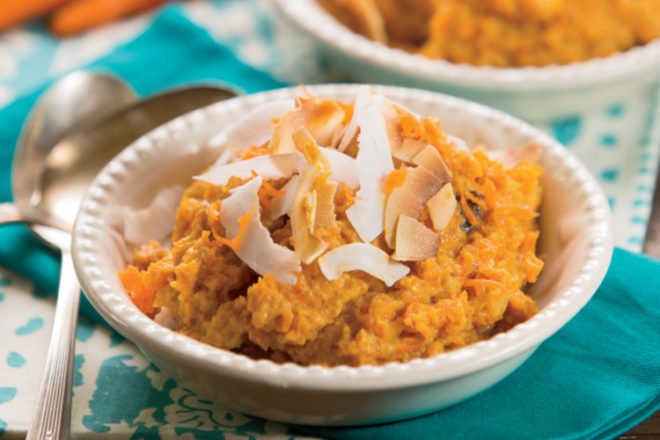 Carrot and Coconut Pudding