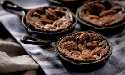 Pecan Pie Skillet Brownies