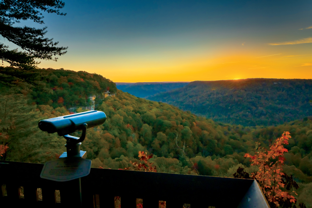 Colorblind Viewfinder at South Cumberland State Park, TN