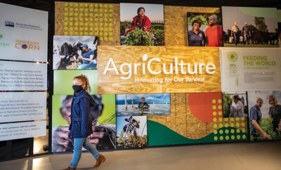 Visitors explore the new permanent exhibit called AgriCulture: Innovating for Our Survival which is now open in Simmons Bank Ag Center the at Discovery Park of America in Union City, Tennessee. ©Journal Communications/Jeff Adkin